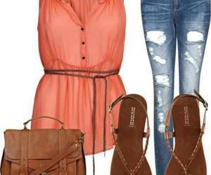 bag, clothesm, and jeans image