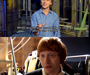 funny, tom felton, and ginger image
