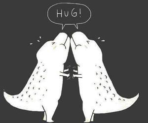 hug, dinosaur, and funny image