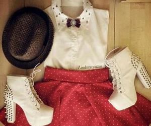 fashion, white, and red image