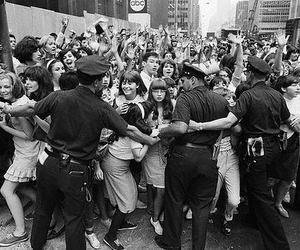 police and beatles fans image