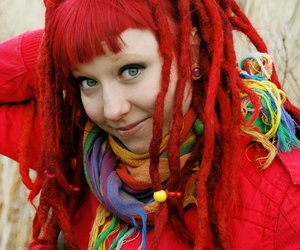 dreadlocks, red hair, and dreads image