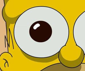 simpsons, homer, and eyes image