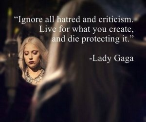 Lady gaga and quote image