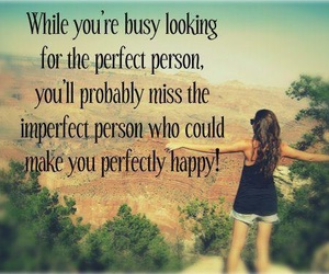 quote, happy, and perfect image
