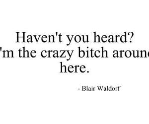 blair waldorf, quotes, and bitch image