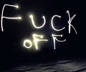 fuck off, light, and text image
