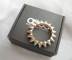 bracelet, spikes, and gold image