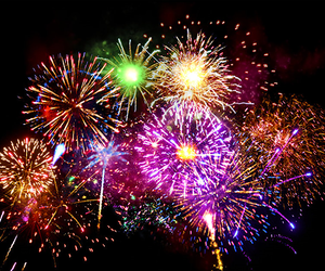 fireworks, light, and colors image