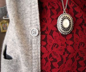 necklace, fashion, and lace image