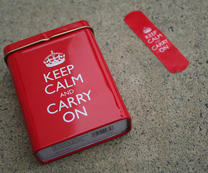 keep calm and red image