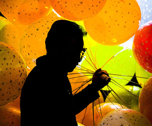 balloons, colour, and light image