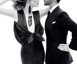fashion, black and white, and model image