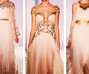 dress, gold, and Zuhair Murad image