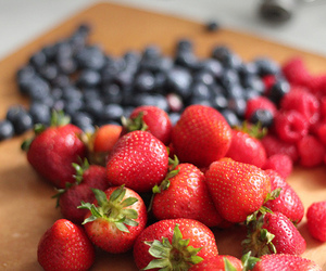 berries, fruit, and blueberry image
