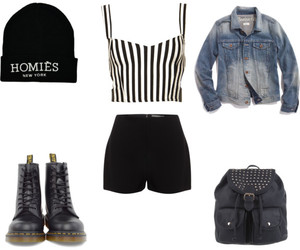 backpack, boots, and dr martens image