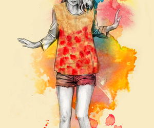 illustration and watercolor image