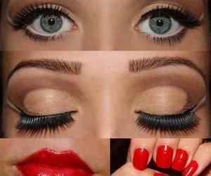 eyes, make up, and nails image