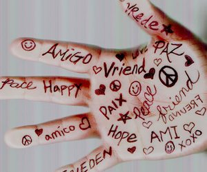 friends and hand image