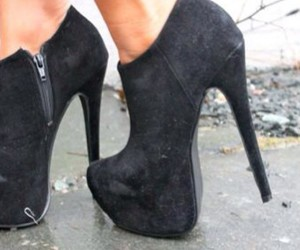 black, boots, and platforms image