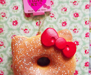 donut, hello, and kitty image