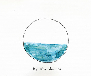 sea, blue, and quote image