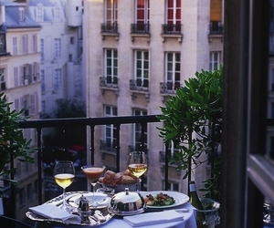 dinner, romantic, and paris image