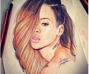 rihanna, drawing, and art image