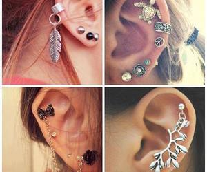 earrings, ear, and cool image