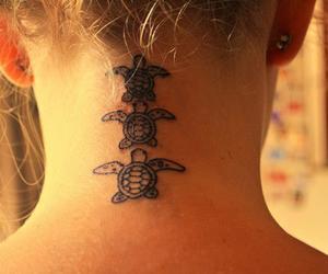 tattoo, turtles, and white image