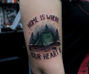 tattoo, home, and heart image
