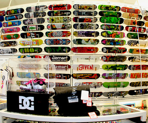 skateboards and store image