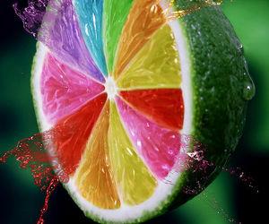 colors, lemon, and fruit image