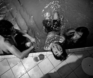 boys, friend, and pool image