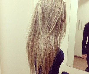 hair, girl, and blonde image