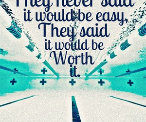 quote, swimming, and pool image