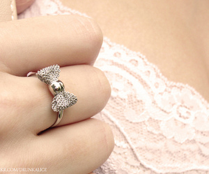 girl, lace, and ring image