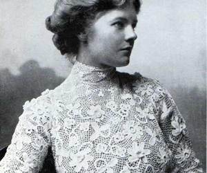 lace, black and white, and old image