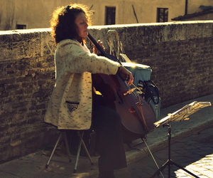 artist, beauty, and cello image