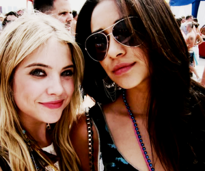 ashley benson, shay mitchell, and girl image
