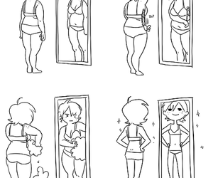 fat, skinny, and mirror image
