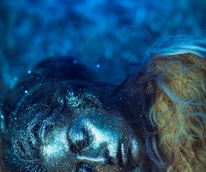 blue, glitter, and photography image