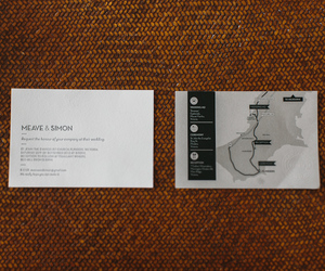 business card and wedding image