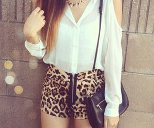 fashion, outfit, and leopard image