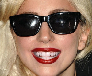 gaga, shades, and smile image