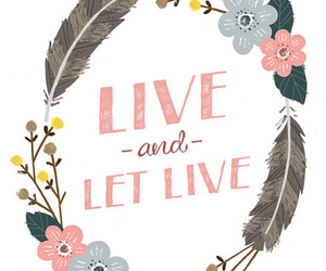 live, quote, and flowers image