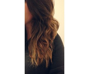 brunette, curls, and curly hair image