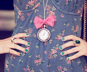 fashion, dress, and clock image