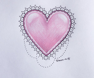 beautiful, heart, and lace image
