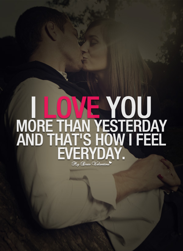 I Love You More Than Quotes Amusing I Love You More Than Yesterday  Sayings With Images
